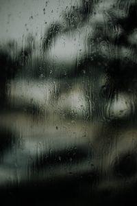 Regen auf Fenster